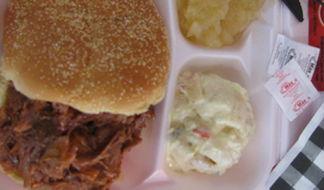 pulled pork bbq sandwich, krolicks bbq